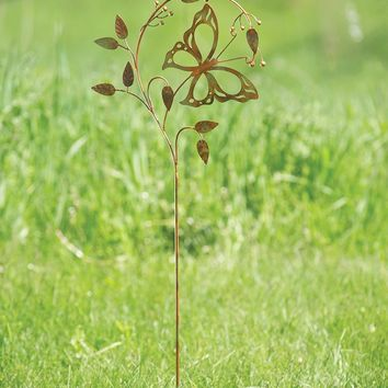 Butterfly on Branch Garden Stake - New item! Pre-order for August!