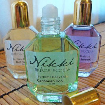 CARIBBEAN COOL  Perfume Oil Rollon 1/2oz by nikkicandles on Etsy