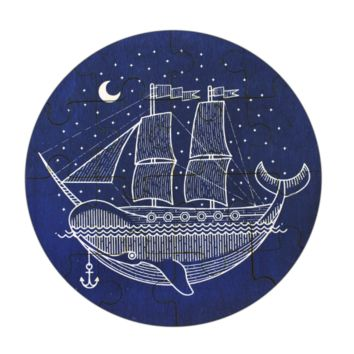 Narwhal Ship Wooden Jigsaw Puzzle