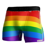 Rainbow Horizontal Gay Pride Flag Boxer Brief Dual Sided All Over Print by