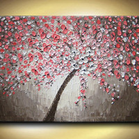 Large 48 Oil Impasto Painting Original Abstract by artoftexture