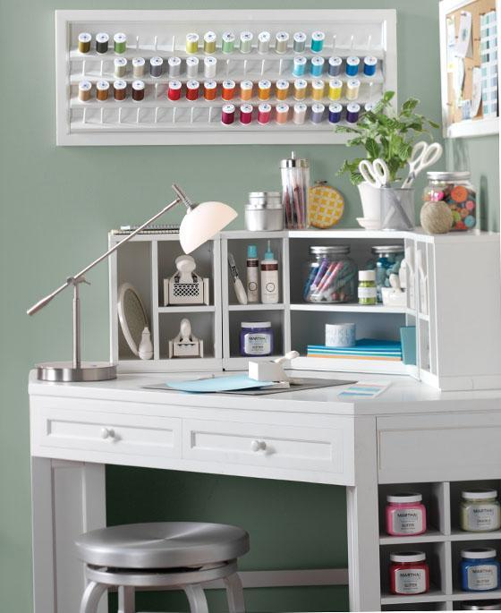 martha stewart living craft space corner from home decorators