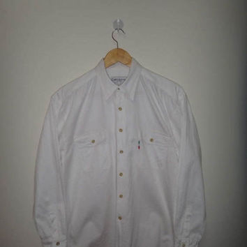 15% OFF Sale Rare Gianni Valentino Jeans Shirt Men Clothing Men's Casual Button Down Embroidered Nice Design