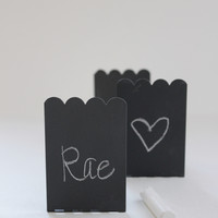 Mini Metal Chalkboard Name Place Cards, Set of 8