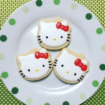 One Dozen Hello Kitty Sugar Cookies