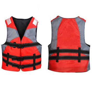 Oxford Tactical Life Vest Jackets Lifesaving Children Swimsuit Lifeguard Fishing Vest For Puddle Jumper Kayak Boating Adults Men