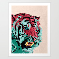 Tiger Art Print by Roland Banrevi