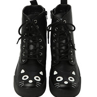 T.U.K. Black Kitty Sneaker Boots