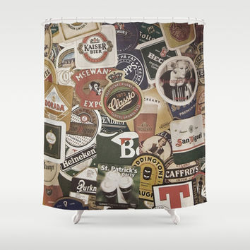 Beer Shower Curtain by Nicklas Gustafsson