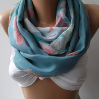 Dance of the Colors Collection -Infinity - Loop - Circle - Elegant - Chiffon - Feminine - Summer - Shawl - Scarf