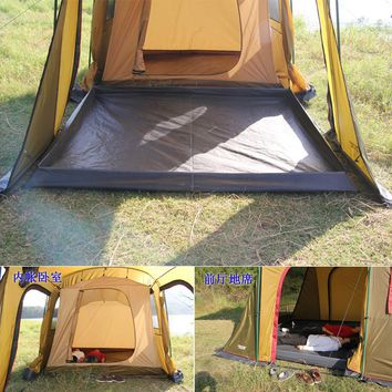 Ultralarge Double Layer One Hall One Bedroom Waterproof 5-8 Camping Barraca Beach Tent