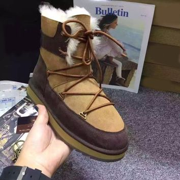 2018 Hot Selling Women Winter Boots Fur Classic Mujer Botas Australian Classic Genuine Kid Suede Leather Keep Warm Snow Boots