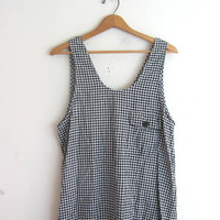 vintage checker dress. checkered drop waist dress. pocket dress. modern day dress.