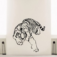 Wall Decal Vinyl Sticker Wild Animal Predator Tiger Decor Sb468