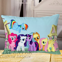 Cute My Little Pony Ponies Picture on Rectangle Pillow Cover
