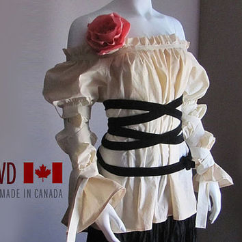 Blouse Steampunk Plus Size Peasant From Lovddesign On Etsy My