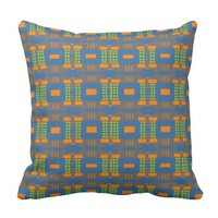 Dots and Diamonds and Dashes Throw Pillow