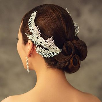 Wedding Leaf Crown Headband Bridal Headpiece