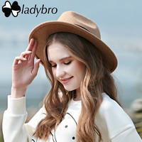 Ladybro 2016 Autumn Winter Sun Hat Women Men Fedora Hat Classical Wide Brim Felt Floppy Cloche Cap Chapeau Imitation Wool Cap
