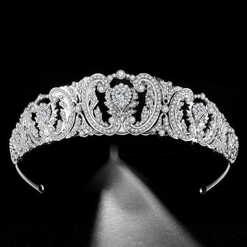 Baroque Luxury Crystal Wedding Bridal Tiaras Crowns Prom Diadem Wedding Hair Accessories