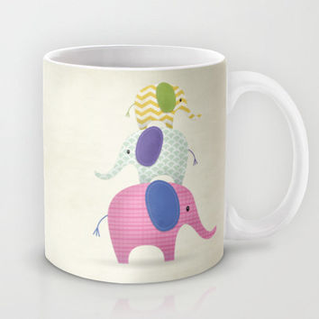Balancing Act, Stackable, Elephants, Ceramic Coffee Mug