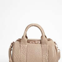 Women's Alexander Wang 'Rockie - Rosegold' Leather Crossbody Satchel - Beige