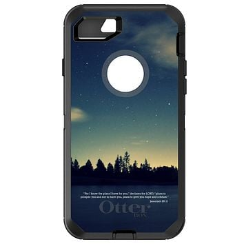 DistinctInk™ OtterBox Defender Series Case for Apple iPhone or Samsung Galaxy - Night Sky Lake Jeremiah 29:11