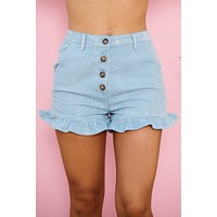 Let Loose Shorts (Light Indigo)