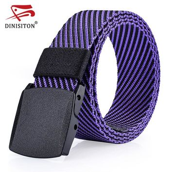 Fashion Men Canvas Belt Military Equipment Strap Resin Buckle Belts Luxury For Men Tactical Male Cantos