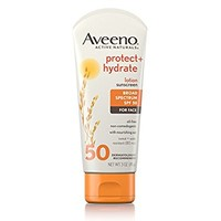 Aveeno Protect + Hydrate Lotion Sunscreen With Broad Spectrum SPF 50 For Face, 3 oz.