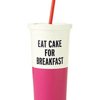 eat cake for breakfast insulated tumbler