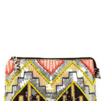 Technicolor Dreams Multi Sequin Clutch