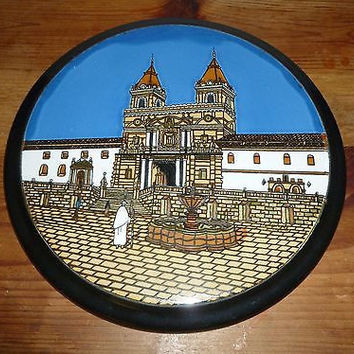 Ceramic San Francisco Cathedral Wall Plaque