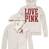 University of Alabama Faux-fur Lined Bling Zip Hoodie - Victorias Secret PINK - Victoria's Secret