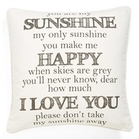 Levtex 'You Are My Sunshine' Pillow