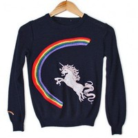 Vintage 80s Unicorn and Rainbow Tacky Ugly Sweater Women's Size XS/Small (XS/S) $35 - The Ugly Sweater Shop