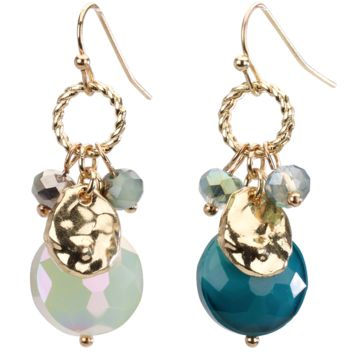 Drop Earring with Beaded Cluster