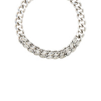Isabel Marant Crystal Embellished Chain Choker in Silver | FWRD