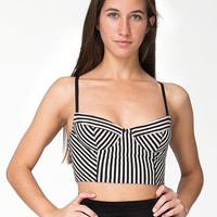 rsa8303st - Striped Cotton Spandex Underwire Bustier