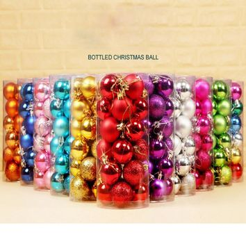 30mm Christmas Xmas Tree Ball Bauble Hanging Home Party Ornament Decor July24 Drop Ship