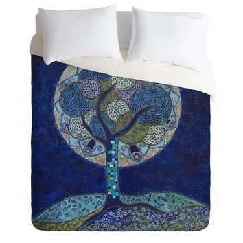 Ruby Door Moon In Bloom Duvet Cover