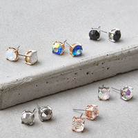 AEO Large Stone Stud Earrings 6-Pack, Multi