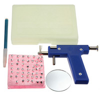 Hot Selling 1Set Pro Stainless Steel Ear Nose Body Navel Piercing Gun With 98pcs Ears Studs Tool Kit