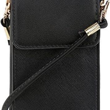 DELUXITY Small Traveling Cell Phone Case Purse Wallet Crossbody Bag for Women
