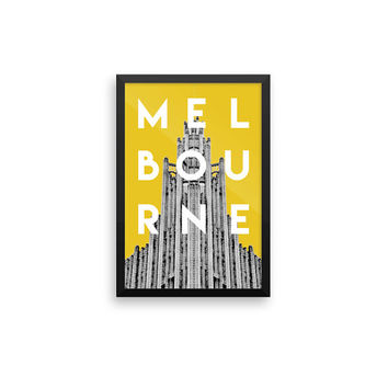 Melbourne Colour | TRAVEL ART PRINT | A5/A4/A3/A2 - Melbourne Travel Poster, Australia, Graphic Design, Typography, Yellow Print