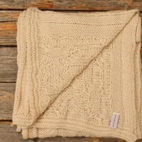 Fishermans Cable Knit Alpaca Scarf