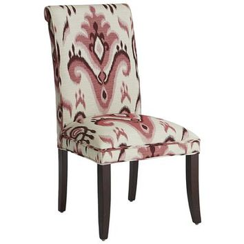 Angela Deluxe Dining Chair - Ikat Red