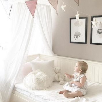 Fashion Nordic Style Dome Mosquito Nets Curtain for Bedding Set Princess Bed Valance Bed Netting Kids Room Decor  Newest