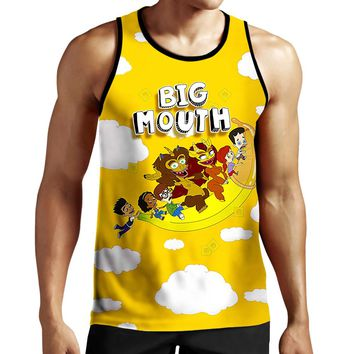 Big Mouth Flying Banana Tank Top