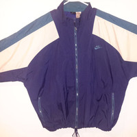 Vintage NIKE Original 90s Windbreaker Sz Small Retro Green Blue Retro Light Jacket Coat